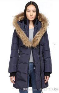 Giù Giacca donna WINTER MAC-Kayf-F4-A506 Giù parka Marchio reale Raccoon Fur Collar White Duck Outerwear Coats CAPPUCCIO CON PELLICCIA