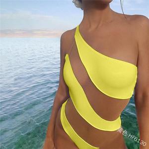 Женщины Купальники Bodysuit Купальный костюм бикини Set Купальные костюмы Swim Пляж Sexy Купальники Hot прострочкой цвета