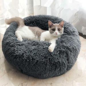 Super Cat Soft Round saco de dormir Longo Plush Bed Dog Pet Kennel fontes do gato portátil inverno quente Mat Pet Acessórios