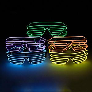 Led Parti Glowing EL fil phosphorescent flash en verre avec fenêtre de Pâques Graduation anniversaire Bar décoratif lumineux Bar Lunettes