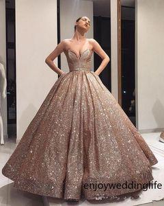 Glitter Balo Onbeş Yaş Modest Sweet 16 elbise pileleri Sweet-kalp Fermuar Geri Balo Abiye doğum günü partisi vestidos de 15 Elbiseler