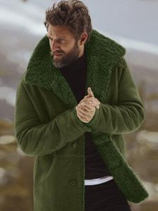Зима Толстые Дизайнер куртки пальто Мужская одежда Теплая кашемира однобортный Горячие пальто Outwear Ветровка