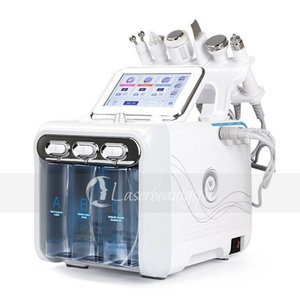 Eficaz 6 em 1 Facial Água Peeling Microdermoabrasão Ultrasonic Hidro dermoabrasão Vacuum spray Spa Pele Facial Pore Lavagem Máquina