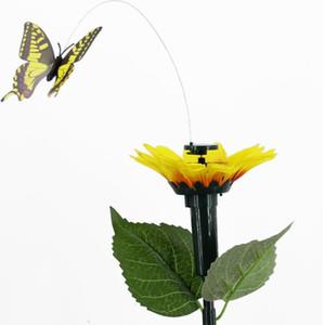 시뮬레이션 butterflys와 태양 광 홈 정원 시뮬레이션 춤 나비 끼고 진동 플라이 벌새 정원 장식 LSK112