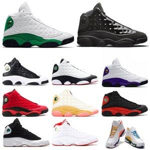 nike air jordan retro 13 jumpman 13s erkekler basketbol ayakkabıları 13 CNY Şapkanız TERS HE GOT OYUN Bahçesi Fint Kara Kedi eğitmenler Spor Sneakers 7-13 mens