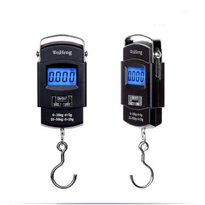 Outdoor Portable Fishing Scale 50kg 10g LCD Electronic Balance Digital Hand Tools Luggage Hanging Digital Scale CCA11765-A 30pcs