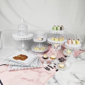 13 Stück Hochzeit Tablett Metall Großhandel Tasse Weiß Rosa Vintage Kleine Birdcage Und Cupcake Kuchenständer