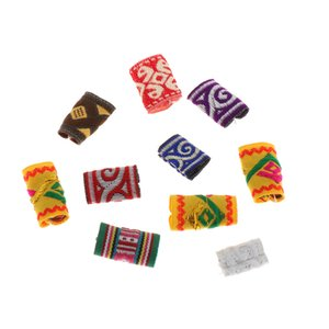 10x Fabric Dreadlock Bead Hair Accessories Fashion Hip-Hop Style Hair Decors