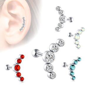 스테인레스 스틸 체코 다이아몬드 귀걸이 저자 극성 컬러 다이아몬드 귀걸이 귀 뼈 딩 여성 선물 크리스탈 귀걸이 립 네일 보석