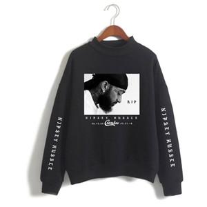 Escudo Plus para hombre con capucha Nipsey Hussle estilo de la moda jersey suelto suéter de impresión Asiático Tamaño S-4XL envío