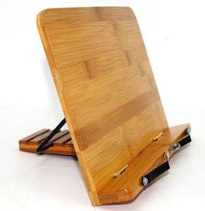BamBoo Okuma Dinlenme Cookbook Standı Tutucu, Ayarlanabilir Destek ile Katlanabilir Tablet Cook Book Standı Kitaplık Zarif Desen
