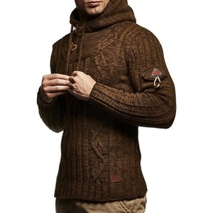 Men Autumn Winter Turtleneck Casual Long Sleeve Knitting Sweaters Tops Blouse SweaterCoats Male Casual Warm Slim Fit clothing