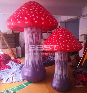Preço barato inflável ao ar livre Decoração do cogumelo por gigante do partido / evento de cogumelos inflável, decoração cogumelos infláveis para eventos