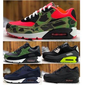 Zapatos para correr 90 inversa pato Atmos Camo QS esencial 90 Tamaño de los hombres con la caja al por mayor de 90 Camo