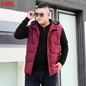 Winter down jacket sleeveless vest men's extra large code plus size tide casual wear vest 8XL9XL10XL