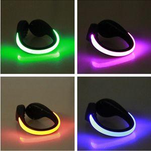 أحذية رياضية LED مضيئة مشبك ضوء الليل السلامة تحذير الصمام ضوء فلاش مشرق لتشغيل الدراجات الدراجة الرياضة الخفيفة 152