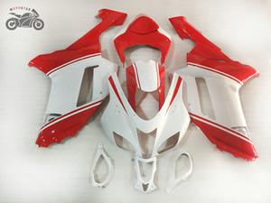 Custom your own Fairing kits for Kawasaki 2007 2008 Ninja ZX6R 07 08 ZX 6R motorcycle road racing fairings white red