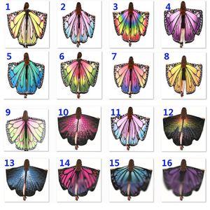 41 Arten Halloween-Kostüme Butterfly Wings-Schal-Frauen-Fee Dekorative Accessoires-Verpackungs-Druck Schals Party Supplies DHL Schiff HH9-2466