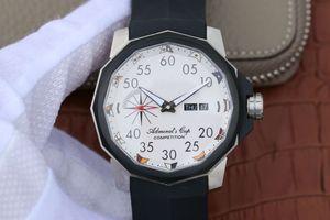 серии V6 Admiral Cup, 7750 автоматические движения, 12 сторона сапфировое стекло, мужские часы, силиконовый ремешок, низ