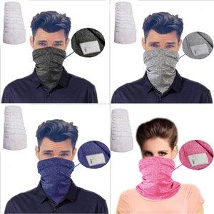 PM2.5 filtro mágico bufandas Máscara KDIS adulto cara exterior de la bufanda turbante cuello Protegerse del Sol Ciclismo Pañuelos Máscara sin filtro LJJA4074