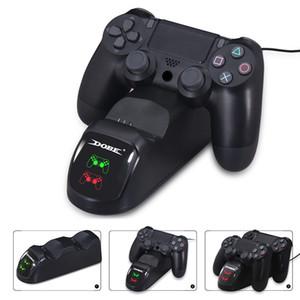 Быстрая зарядка PS4 Dock Dual Controllers зарядное устройство зарядная станция Gamepad Подставка держатель база для SONY PlayStation 4 PS4 / Pro / Slim