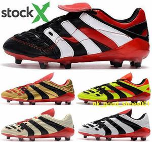 botas de EUR 46 bola Homens mulheres amarelas Shoes Accelerator chuteiras de futebol do futebol dos homens Predator AG enfants tamanho us 12 scarpe FG Eletricidade Tenis