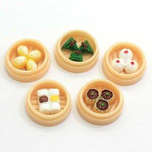 Çin Gıda Özel Buharda Mantısı Çok Çeşitleri Lezzetli Düz Geri Reçine Boncuk Çıkartma Craft Dekorasyon
