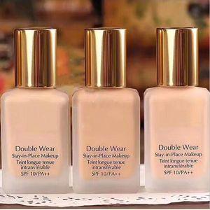 Double wear Foundation Liquid 30ML Stay in Place Makeup 1oz intransferable 3 Colors liquid foundation 24pcs