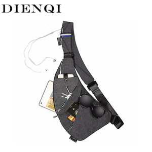 DIENQI Nylon Waterproof Waist Bag Brand Men Holster Anti Theft Shoulder Bag Sports Travel Personal Pocket Bags Casual Chest Bag T200609
