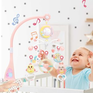 Kawaii animaux hochets musicale Lit mobile Lit à Bell Music Box Projecteur 0-12 mois Bébé Jouets éducatifs T200429