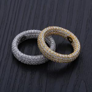 925 Sterling Silver Rings Bagues de Fiançailles Ensembles de Mariage Hip Hop Designer Bijoux Hommes Zircon Amour Anneau Iced Out Charms