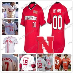Personalizado Nebraska Cornhuskers 2019 NCAA faculdade beisebol cinza branco vermelho qualquer número nome 4 Alex Gordon 2 Jaxon Hallmark huskers Jersey