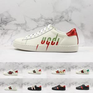 19FW Ace Sneakers Bee lama Loved Scarpe Tripler Nero Bianco Mens Per la piattaforma Uomini sportivo in pelle Donna sportiva Sneaker formatori Taglia 44