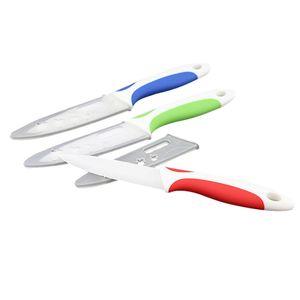 3/4/5 di pollice bianco Colorful maniglia di sbucciatura di ceramica da cucina coltelli da cucina Strumento di ceramica della lama di alta qualità coltelli da cucina