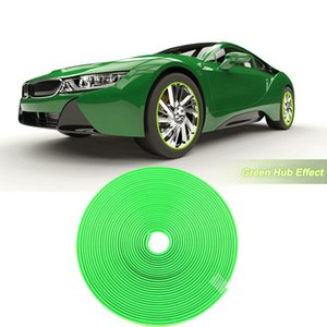 8M Car Wheel Hub Rim Edge Protector Ring Tire Strip Guard Rubber Sticker green