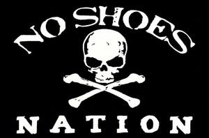Noir Pas De Chaussures Pirate Nation Drapeau Bannière Swooper Garage Drapeau Bannière 150CM * 90CM 3 * 5FT Polyester Bannière Personnalisée Sports Drapeau