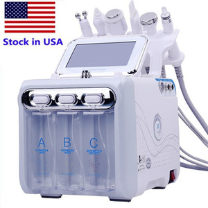 US stock hot selling 6 in 1 small bubble skin care machine ultrasonic radio frequency Hydra deep facial pore cleaning massage machine
