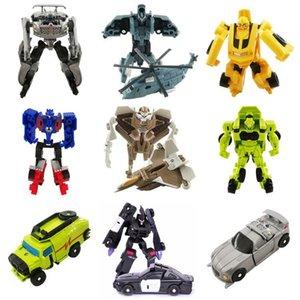 Sept Mini blister Emballage manuel Robots Jouets Hélicoptère Deformation Autobot Figurine Boy Toy Noël Cadeaux d'anniversaire en gros