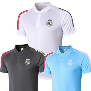2021 Real Madrid Polo weiße Fußball-Jersey 20 21 Real Madrid GEFAHR Schwarz POLO Hemd RAMOS MODRIC ASENSIO ISCO Fußball POLO Uniformen