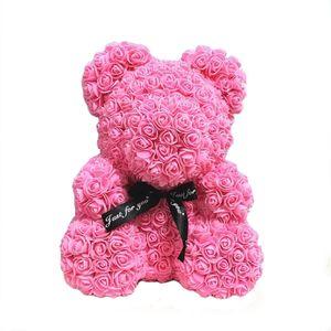ABEDOE Artificial Teddybär Blumen-Bär Foam Rose Teddy Dosen Hochzeit Partei-Dekor Blumen Valentinstag-Geschenk Rose