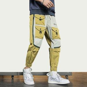 iiDossan 2020 High Visibility Cargo Pants Men with Pockets Overalls Japanese Streetwear Harajuku Sweatpants Hip Hop Pants New