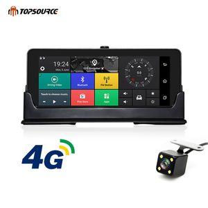 Видеорегистратор TOPSOURCE Даш камеры автомобиля DVR ADAS автомобильный видеорегистратор с GPS-навигатор 4G 3G Android Recorder автомобилей для грузовых автомобилей навигации Bluetooth HD 1080P