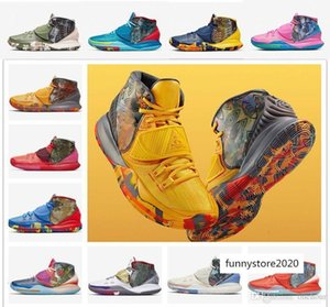 Kyrie 6 Pre-Heat Heal The World NYC Miami LA Shanghai Beijing Tokyo 11 cities Men Basketball Shoes Sneaker Irving 6s Colorful Sports Trainer