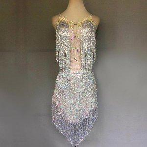 Marca di vendita calda della Donna-Latin Dance Costume Latin Dance Competition interpretazione femminile pratica Dress Skirt