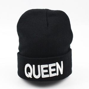 Королева король Bonnet Sweety пара Skullies шапочки шляпы Мужчина Женщина зима теплая вязаная шерсть бренд Bonnet День Святого Валентина мода
