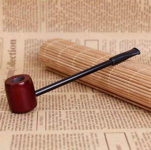 Popeye Red Sandalwood Flat Bottom Pipe Mini tubo pequeño de polo largo