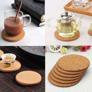 Mantar Coaster Isıya Dayanıklı Kupa Mug Mat Kahve Çay Sıcak Masa Mutfak Dekorasyon Yemek için Ahşap Placemat İçecek