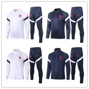 2020 2021 Frence veste de l'équipe nationale Mbappé Pogba Maillot de foot Survêtement kits de football Griezmann Survêtement Giroud se vêtir manches longues