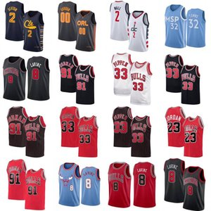 Collin 2 Sexton Баскетбол Джерси Mens City Aaron 00 Gordon John 2 Wall Карл-Anthony 32 Города Zach 8 Lavine Скотти Пиппен 33 Рубашка