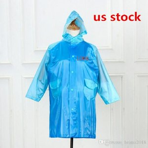 US STOCK, Custom adult long piece raincoat long windbreaker Raincoat Waterproof Rain Coat Hooded Outdoor Hiking Transparent Poncho Portable